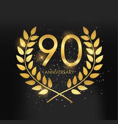 Template logo 90 years anniversary vector