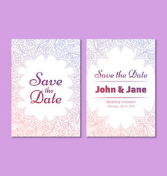 temptale of wedding invitation flyer vector image