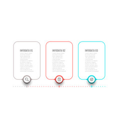 thin line label design elements for infographic vector image