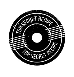Top secret recipe rubber stamp vector