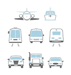 Transport icons vector image