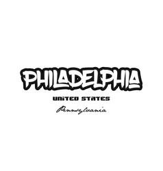 United states philadelphia pennsylvania city vector