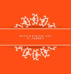 vintage background of invitation card vector image