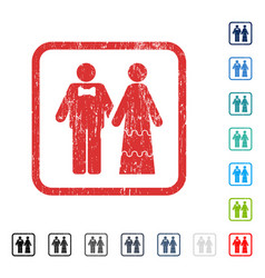 Wedding persons icon rubber watermark vector