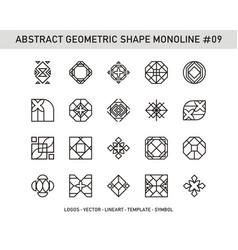 abstract geometric shape monoline 09 vector image