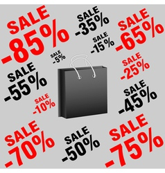 Banner package with sales vector image vector image