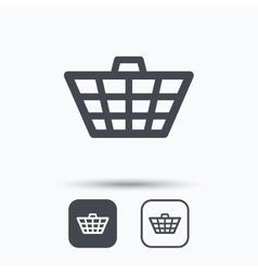 Basket icon shopping cart sign vector