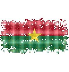 Burkina Faso grunge tile flag vector image