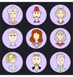 Color family icons vector image vector image
