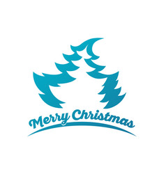 design for christmas greeting card vector image
