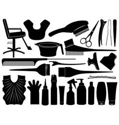 Hair dressing design elements vector