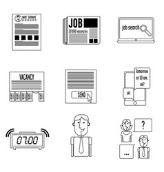 set icons search vector image