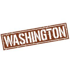 washington brown square stamp vector image