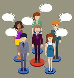 A network of people vector image vector image