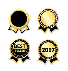 award ribbon the best seller set vector image vector image