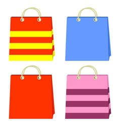 color bags vector image vector image