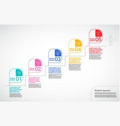 milestone company infographic vector image