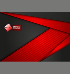 red and black color abstract geometric technology vector image