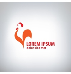 Rooster logo vector image