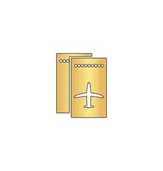 ticket plane computer symbol vector image vector image