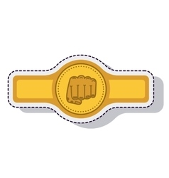 Belt boxing isolated icon vector