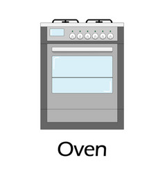 color of the oven vector image