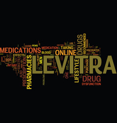 Levitra drug text background word cloud concept vector