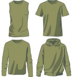 set of khaki shirts vector image vector image