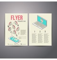 Abstract Brochure Flyer design template social vector image