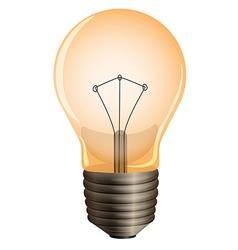 An orange bulb vector image