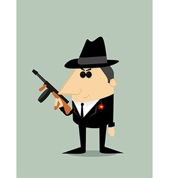 Cartoon gangster vector image