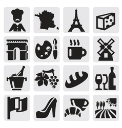 French culture vector image vector image
