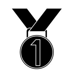 medal award winner sport pictogram vector image vector image