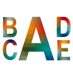 Mosaic alphabet letters A B C D E vector image