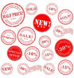 retail stamp set vector image