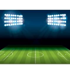 Soccer Field Stadium vector image vector image