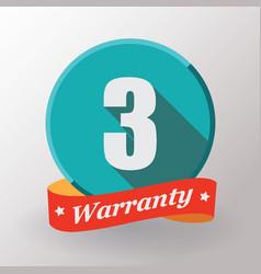 3 warranty label vector