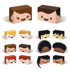 3D diversity avatars vector