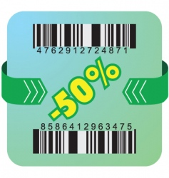 50 percent coupon vector