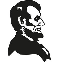 Abraham lincoln hand drawn portrait vector