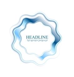 Abstract bright blue wavy logo ring vector image