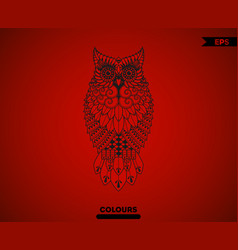 abstract full body owl vector image