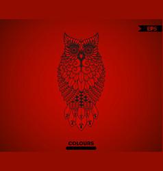 Abstract full body owl vector