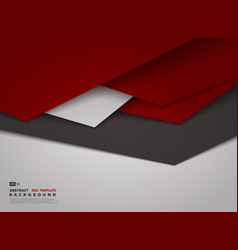 Abstract gradient red triangle overlap design vector