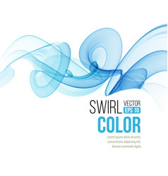 abstract smooth color wave curve flow blue vector image