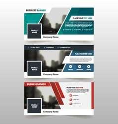 Abstract triangle corporate business banner set vector