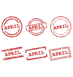 April stamps vector