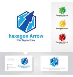 arrow business up logo designs vector image