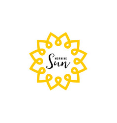 Badge as part of the design - sun and summer vector