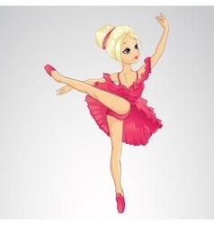 Ballerina Dancing In Pink Dress vector image